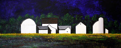 White Barns Poster by William Renzulli