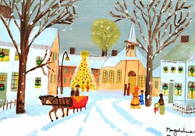 Poster featuring the painting White Christmas by Magdalena Frohnsdorff