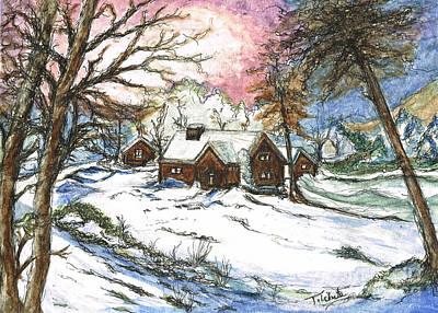 White Christmas Poster by Teresa White