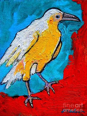 Poster featuring the painting White Crow by Ana Maria Edulescu