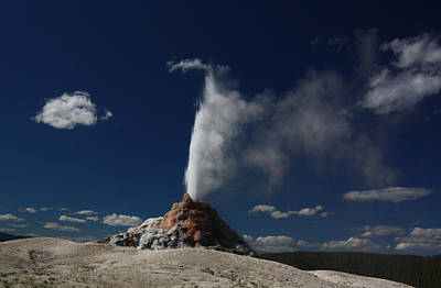 White Dome Geyser In Yellowstone National Park Poster