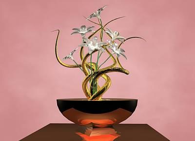 White Flower Poster by Louis Ferreira