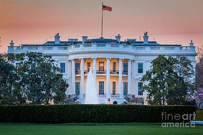 White House Poster by Inge Johnsson