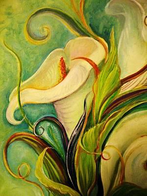 White Lily Poster by Yolanda Rodriguez