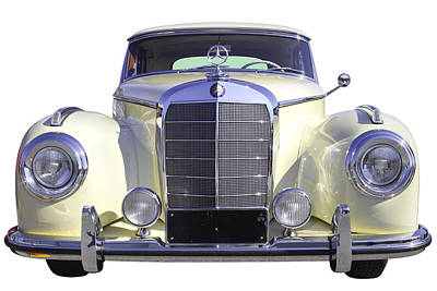 White Mercedes Benz 300 Luxury Car Poster by Keith Webber Jr
