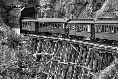 Poster featuring the photograph White Pass Railway by Dawn Currie