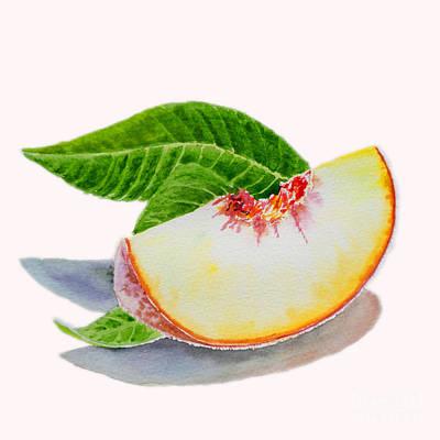 White Peach Slice  Poster by Irina Sztukowski