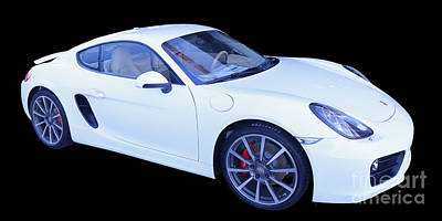 White Porsche Cayman S Poster