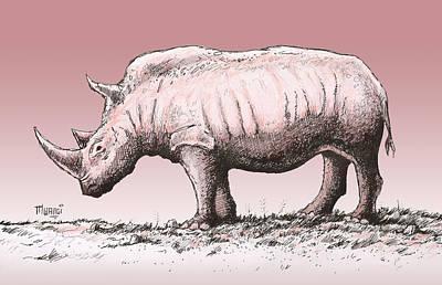 White Rhino Poster by Anthony Mwangi