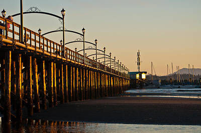 Poster featuring the photograph White Rock Pier by Sabine Edrissi