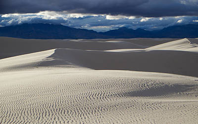 White Sands And San Andres Mountains Poster by Mary Lee Dereske