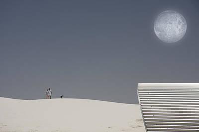 White Sands Moonrise Poster