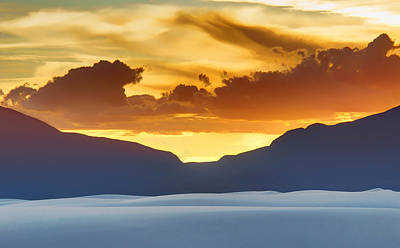 White Sands Sunset #3 - New Mexico Poster by Nikolyn McDonald