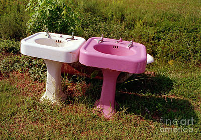 White Sink  Pink Sink Poster