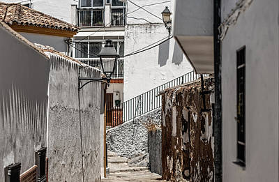 White Streets Of Ronda. Andalusia. Spain Poster by Jenny Rainbow
