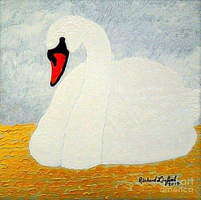 White Swan Lake Poster by Richard W Linford