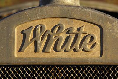 White Truck Emblem  Poster by Mike McGlothlen