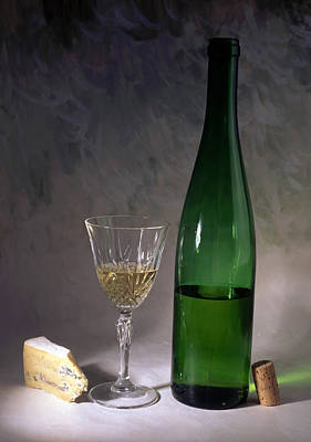 White Wine And Cheese Poster by IB Photo