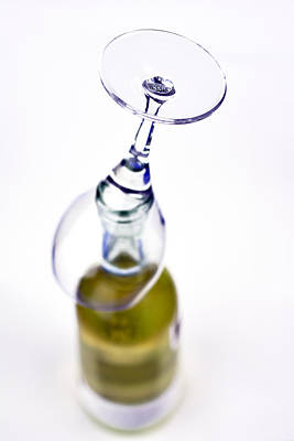White Wine And Glass Poster