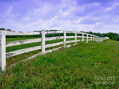 White Wood Fence Poster