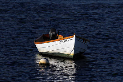 White Wooden Dinghy At Pamet Harbor On Cape Cod Poster by Juergen Roth