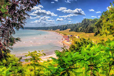 Whitefish Dunes State Park Beach In Door County Poster by Christopher Arndt