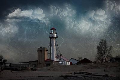 Whitefish Point Lighthouse Lake Superior Poster