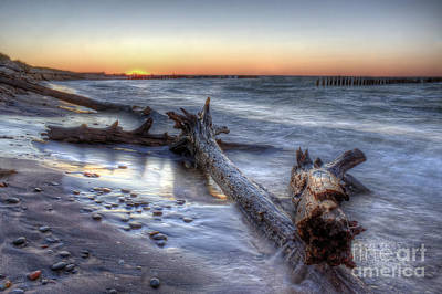 Whitefish Point Sunset Poster by Twenty Two North Photography
