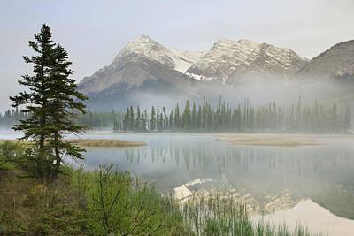 Whitegoat Lake And Mount Elliot Poster