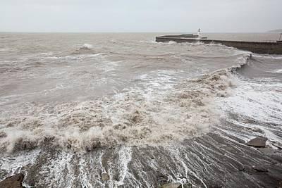 Whitehaven Harbour Storm Poster