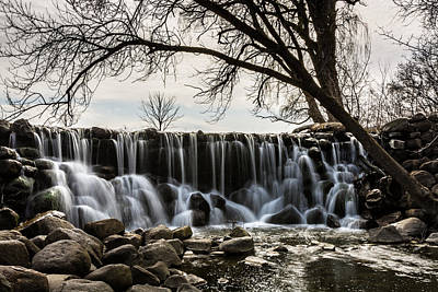 Whitnall Waterfall In Spring Poster