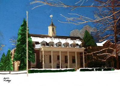 Whittle Hall In The Winter Poster by Bruce Nutting