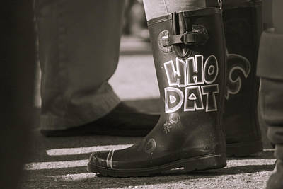 Who Dat Boots Poster by Eugene Campbell
