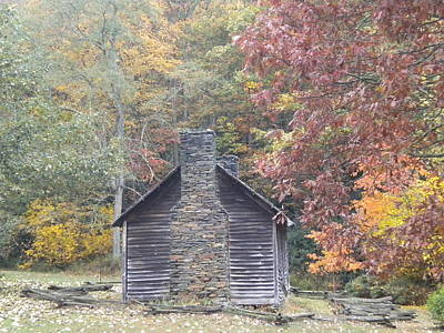 Poster featuring the photograph Whorley Homeplace At Rocky Knob Cabins Blue Ridge Parkway by Diannah Lynch