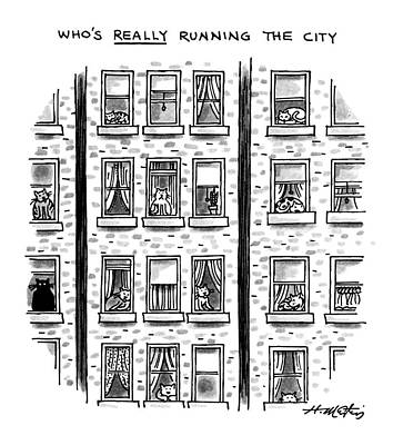 Who's Really Running The City Poster by Henry Martin
