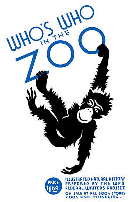 Whos Who In The Zoo Poster by War Is Hell Store