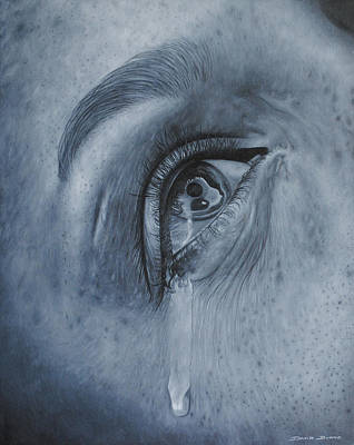 Poster featuring the painting Why Is She Crying by David Dunne