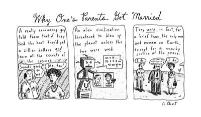 Why One's Parents Got Married: Poster by Roz Chast