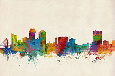 Wichita Kansas Skyline Poster