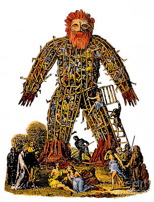 Wicker Man Druid Ceremony Poster by Photo Researchers