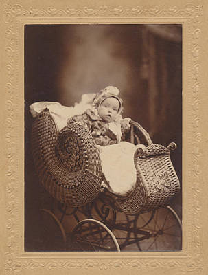 Poster featuring the photograph Wicker Pram by Paul Ashby Antique Image
