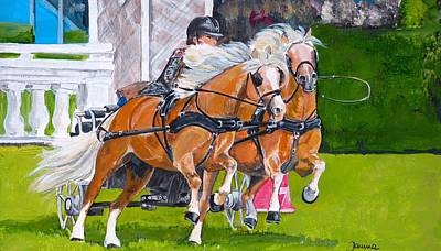 Poster featuring the painting Widescreen Hickstead by Janina  Suuronen