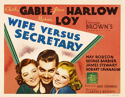 Wife Versus Secretary Movie Poster 1936 Poster by Mountain Dreams