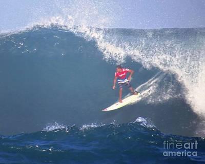 Wiggolly Dantas Pro Surfer Poster by Scott Cameron