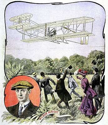 Wilbur Wright's First Flight In Europe Poster by Universal History Archive/uig