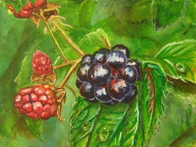 Wild Blackberries Poster