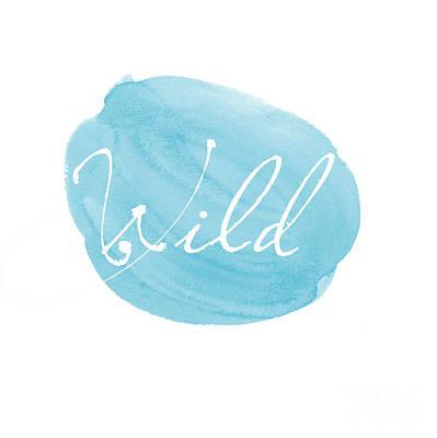 Wild Blue Poster by Marion De Lauzun