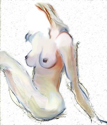 Poster featuring the mixed media Wild - Female Nude by Carolyn Weltman
