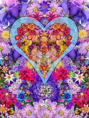 Wild Flower Heart Poster