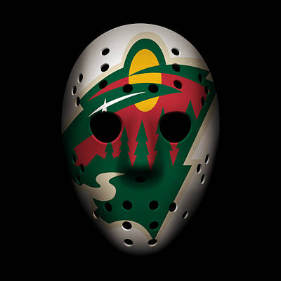 Wild Goalie Mask Poster by Joe Hamilton